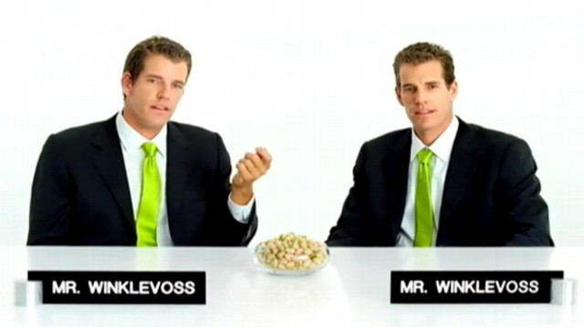 VIDEO: Winklevoss twins make dig at Facebook founder Mark Zuckerberg in nut commercial.