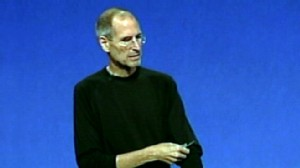 VIDEO: Steve Jobs unveils new Apple TV model that marries TV and Web video.