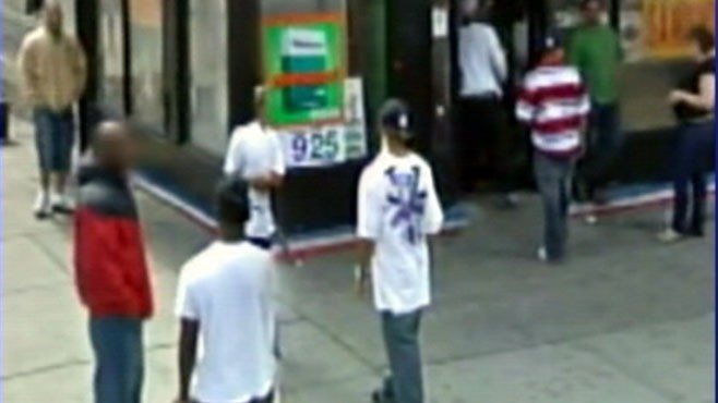 VIDEO: Google Street View cameras capture drug pushers on NYC street corner.