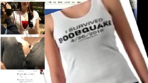 Video: Students hold boobquake as a spoof.