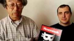 VIDEO: Dorian Satoshi Nakamoto thanks members of the crypto-currency community for their financial support.