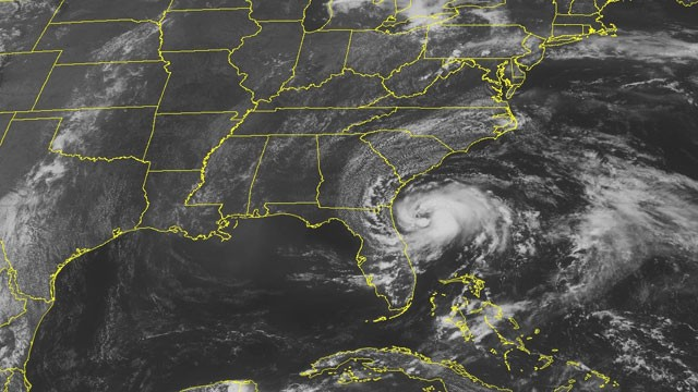 Tropical Storm Beryl photo via NOAA