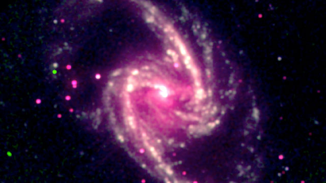 PHOTO: A supermassive black hole in the nearby spiral galaxy NGC 1365.
