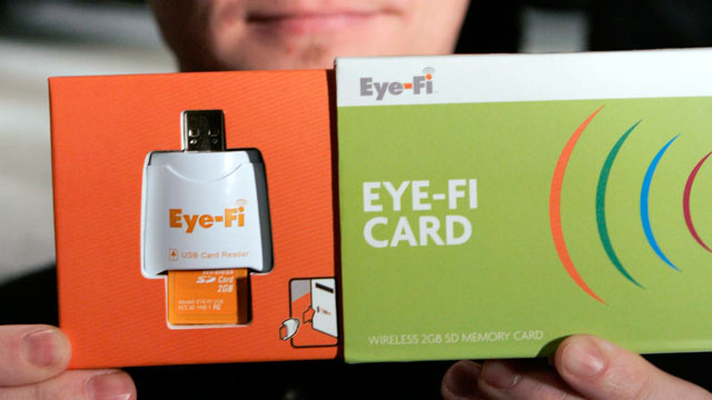 PHOTO: An Eye-Fi Wireless SD Card at the Consumer Electronics Show (CES) in Las Vegas.