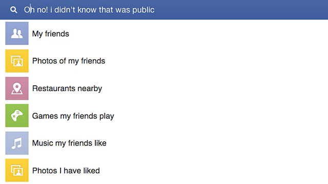 PHOTO: Facebooks Graph Search requires you to be more vigilant about privacy settings.