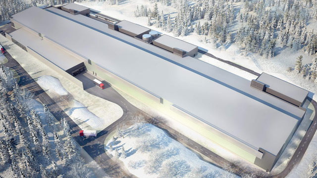 PHOTO: An artists rendition shows Facebooks new server farm on the edge of the Arctic Circle, Oct. 27, 2011 in Lulea, Sweden.