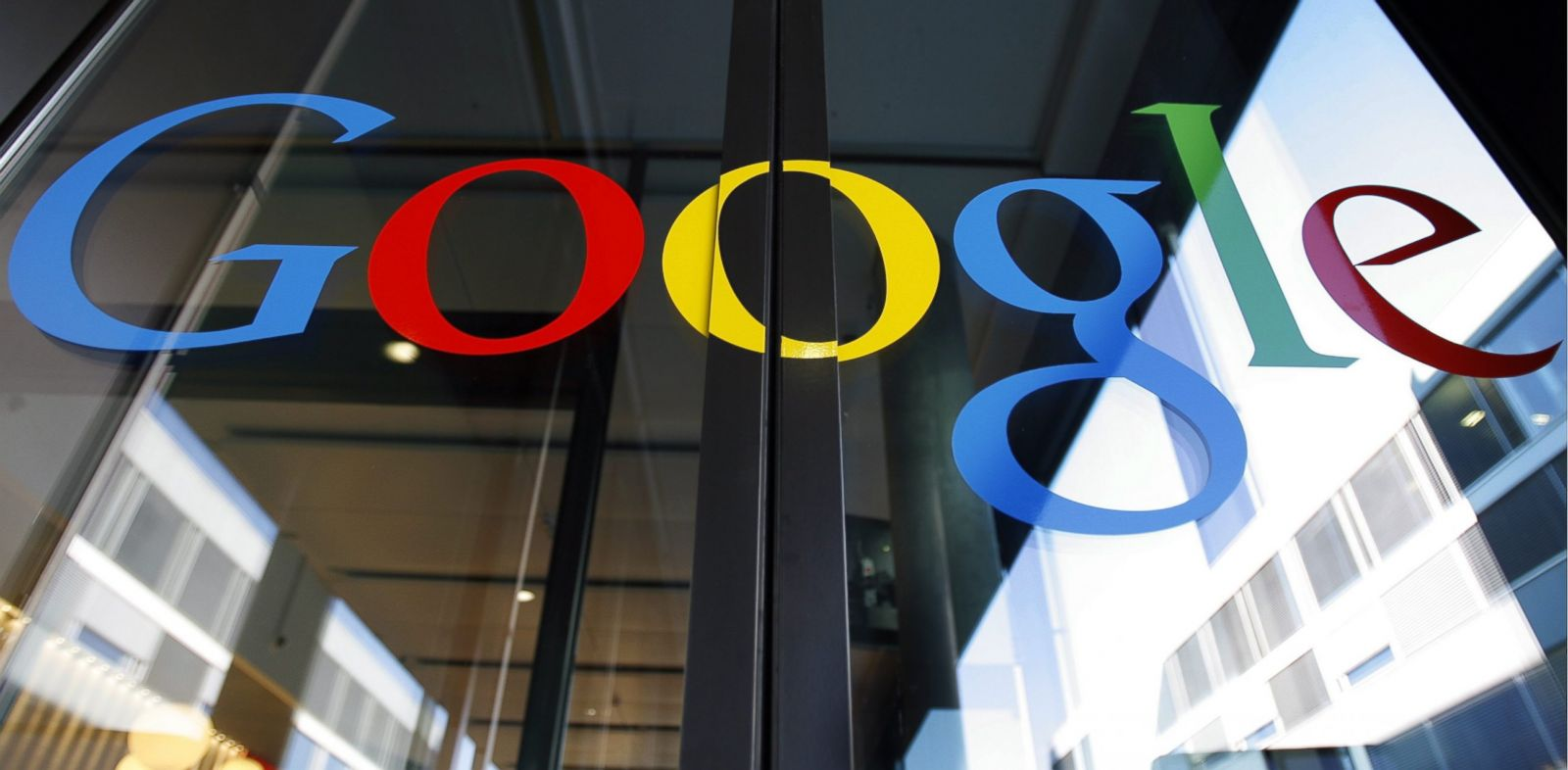 PHOTO: The Google logo is seen on the front door of the Google Engineering center in Zurich, Switzerland, in this March 6, 2008 photo.