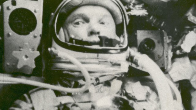 PHOTO: John Glenn is seen during his space flight in the Friendship 7 Mercury spacecraft, weightless and traveling at 17,500 mph., in this Feb. 20, 1962 file photo. The image, provided by NASA, was made by an automatic sequence motion picture camera.