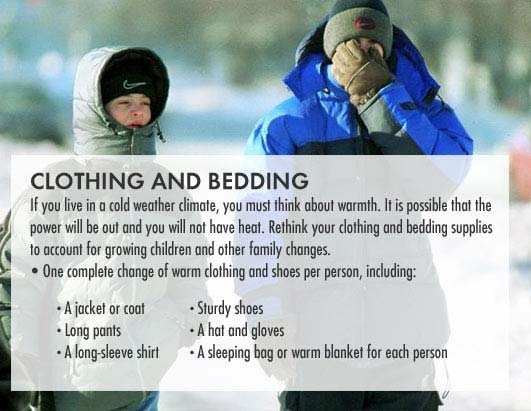 Clothing and Bedding