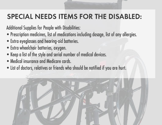 Additional Supplies for People with Disabilities