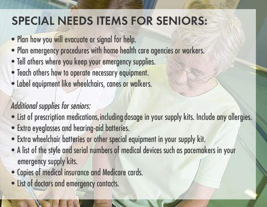 Special Needs for Seniors