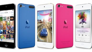 PHOTO: This composite product image provided by Apple shows varieties of the new iPod Touch, available for sale on July 15, 2015.