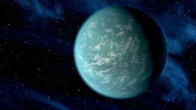 PHOTO: Artist's conception of Kepler-22b, a newly-found planet, 600 light years away, in the habitable zone of a sun-like star.