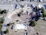 PHOTO: This aerial view shows a large sinkhole in Winter Park, Fla., May 11, 1981.