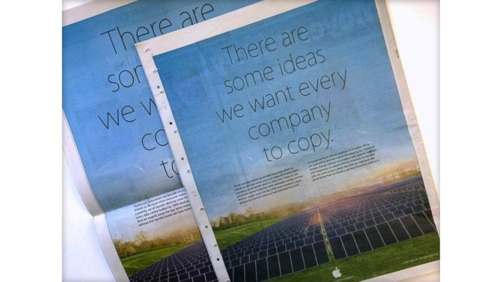 "VIDEO: Apples ad features their solar farm and the message: ""There are some ideas we want every company to copy."""