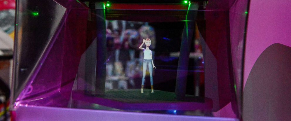PHOTO: Mattels Hello Barbie Hologram toy is seen at the 114th North American International Toy Fair in New York, Feb. 21, 2017.