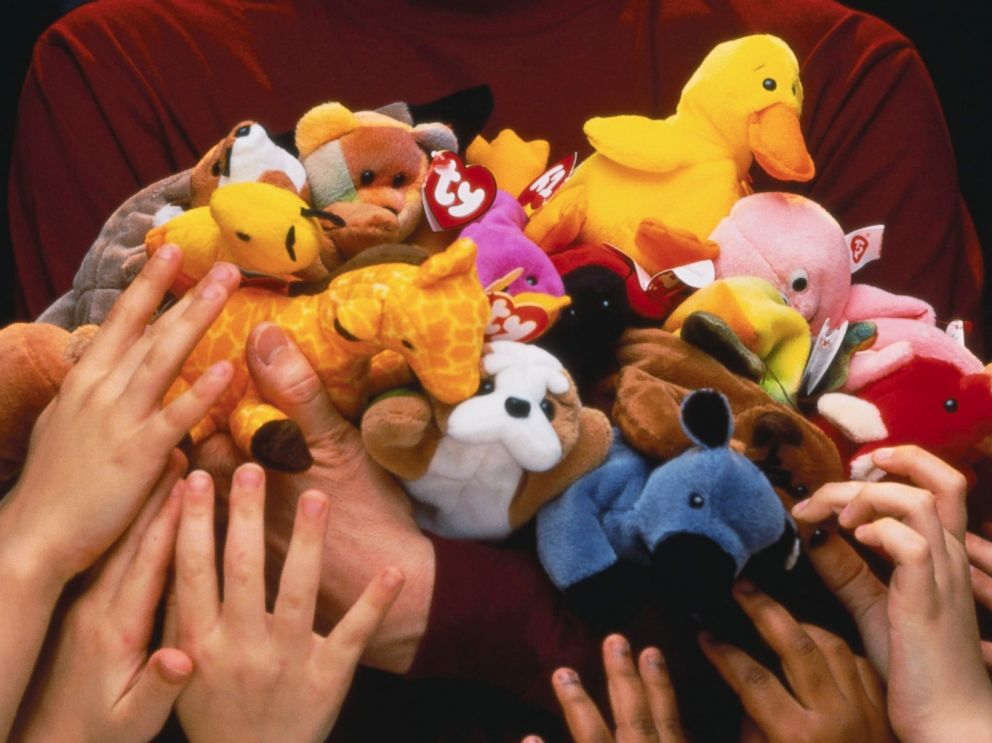 PHOTO: Ty Inc. founder Ty Warner holds a bunch of Beanie Babies in an undated photo.