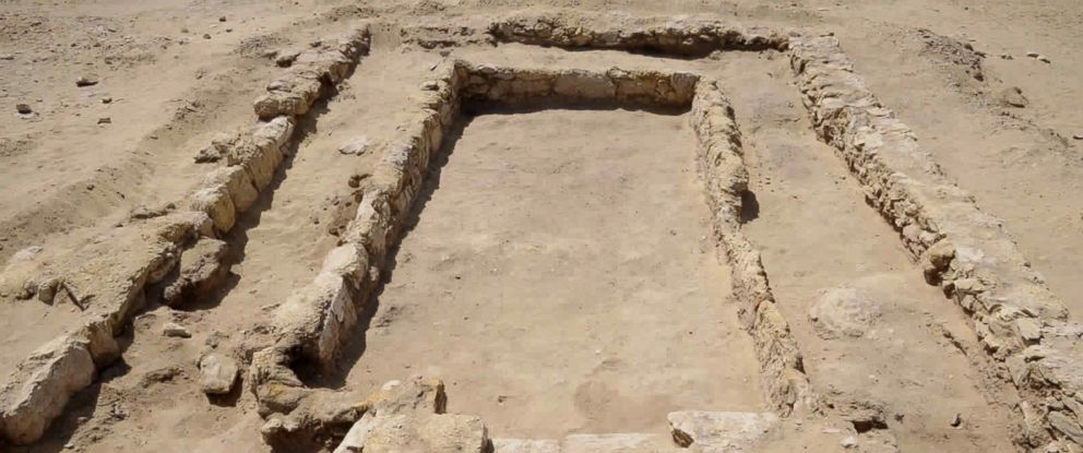 PHOTO: This undated photo released by the Egyptian Ministry of Antiquities shows an ancient dining room dating back about 2,300 years, from the Hellenistic period, a discovery made by a German-Egyptian mission, about 50 miles, southwest of Cairo.