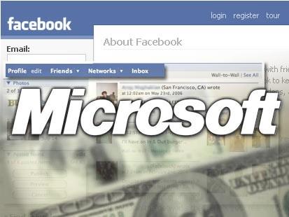 Microsoft ile Facebook'un değeri 15 milyar dolara ulaştı.