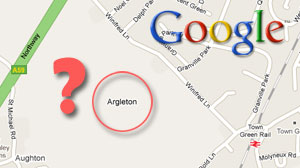 Photo: Google Maps Mystery: Phantom Town Only Exists Online: Blogosphere, British Tabloids Buzz About Argleton, a Fake Lancashire, U.K. Town
