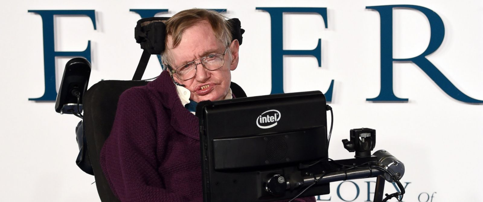"PHOTO:Stephen Hawking attends the UK Premiere of ""The Theory Of Everything"" at Odeon Leicester Square, Dec. 9, 2014, in London."
