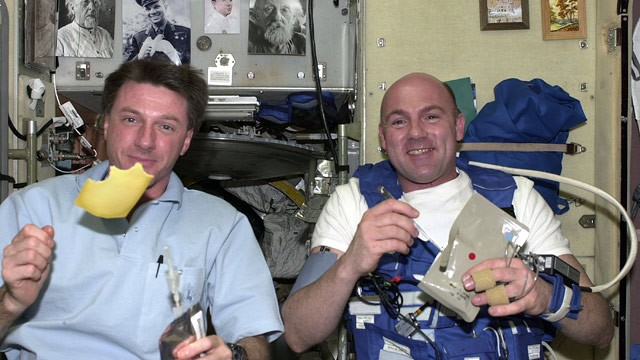 astronauts eating almonds in space - photo #3