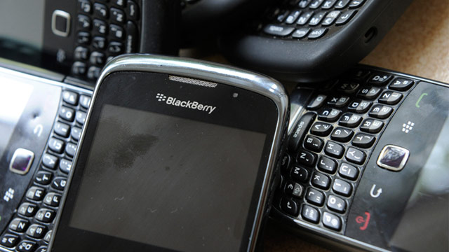 PHOTO: Blackberry smartphones