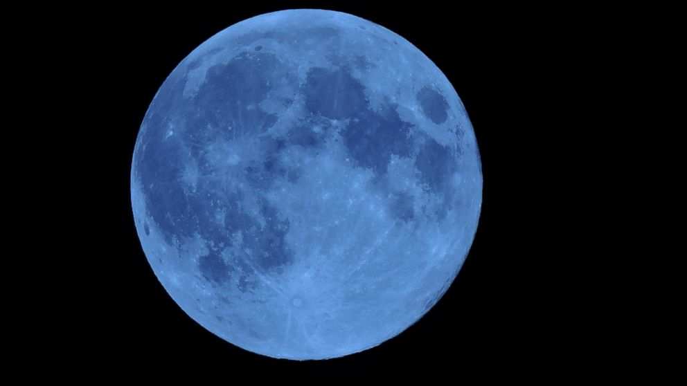 PHOTO: There is a blue moon on Friday.