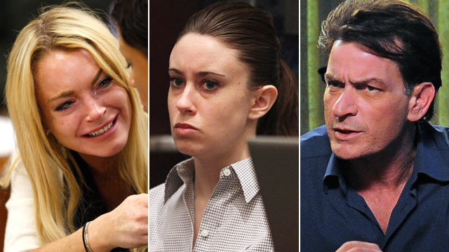 PHOTO: Seen here is Lindsay Lohan, Casey Anthony and Charlie Sheen.