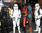 "PHOTO: Cosplayers dressed as characters from ""Star Wars"""