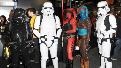PHOTO: Cosplayers dressed as characters from