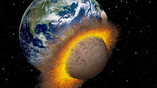 PHOTO: Planet colliding with the Earth