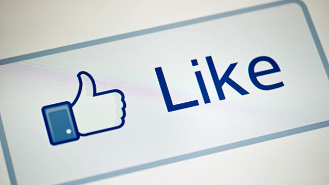 "PHOTO: A view of Facebooks ""Like"" button."