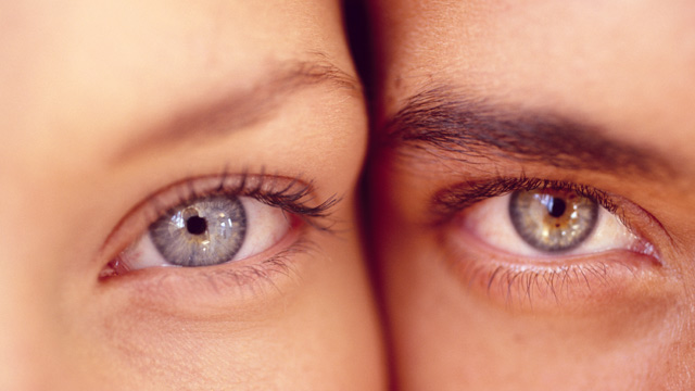 PHOTO: Eyes of a woman and man