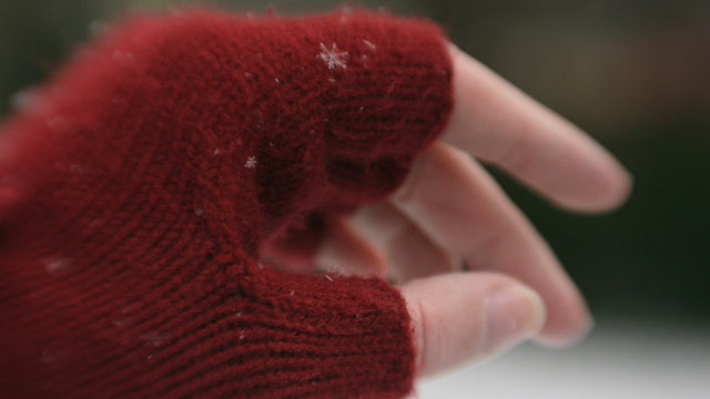 PHOTO: Working on a laptop that gets warm that might help some, but you might want to invest in a pair of fingerless gloves to help keep warm.