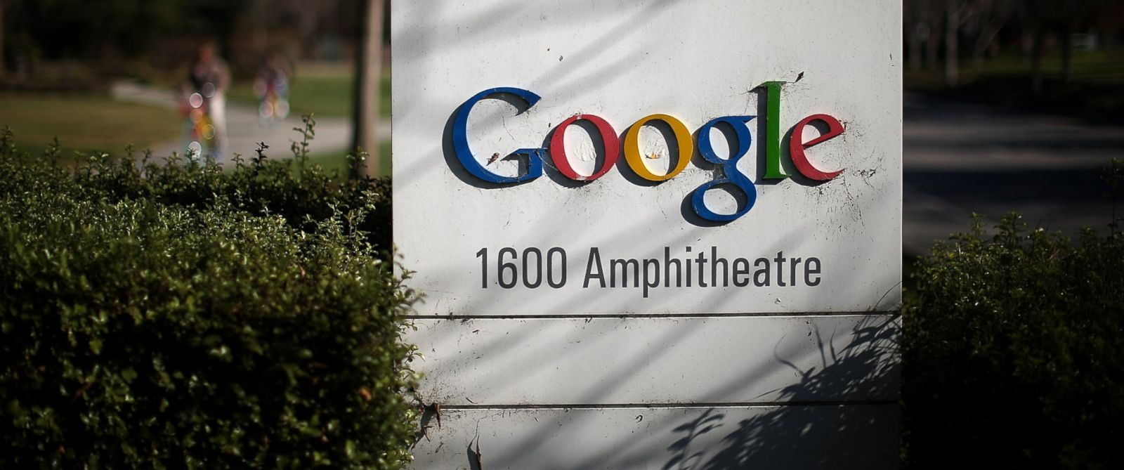 PHOTO: A sign is posted outside of Google headquarters on Jan. 30, 2014 in Mountain View, Calif.