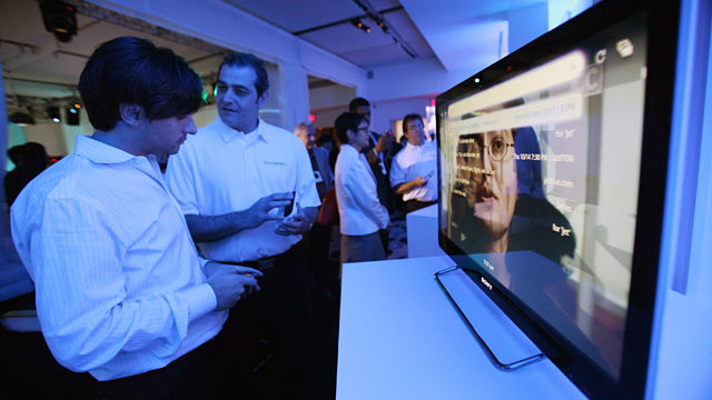 PHOTO: The new Sony Internet TV is seen after it was unveiled in New York City.