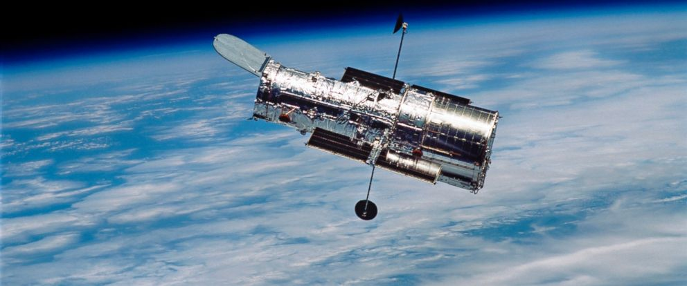 PHOTO: The Hubble Space Telescope in orbit around Earth.