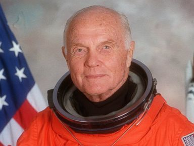 PHOTO: An official NASA portrait made on June 8, 1998 shows Sen. John Glenn wearing a partial pressure launch and entry suit in his role as Payload Specialist for Space Shuttle STS-95.