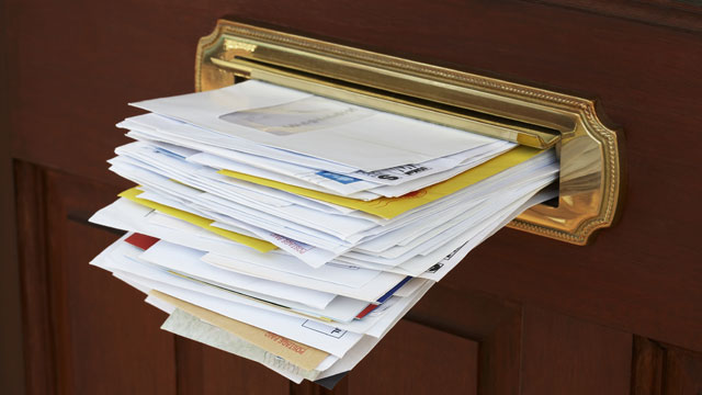 PHOTO: Junk Mail and other marketing will be better targeted.