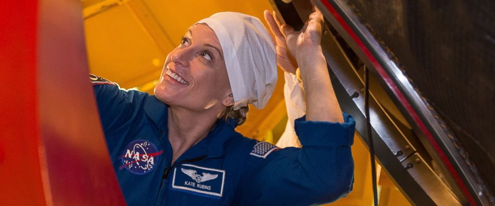 PHOTO: US NASA astronaut Kate Rubins, member of the main crew of the 48/49 expedition to the International Space Station (ISS), gets into the Soyuz MS01 space vehicle at the Russian-leased Baikonur cosmodrome in Kazakhstan, June 25, 2016.