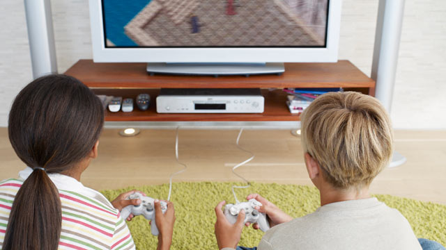 PHOTO: Two young kids seen playing video games in this file photo.