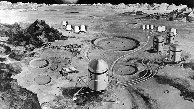 PHOTO: The lunar colony, as imagined by American engineers, Sep. 26, 1969.