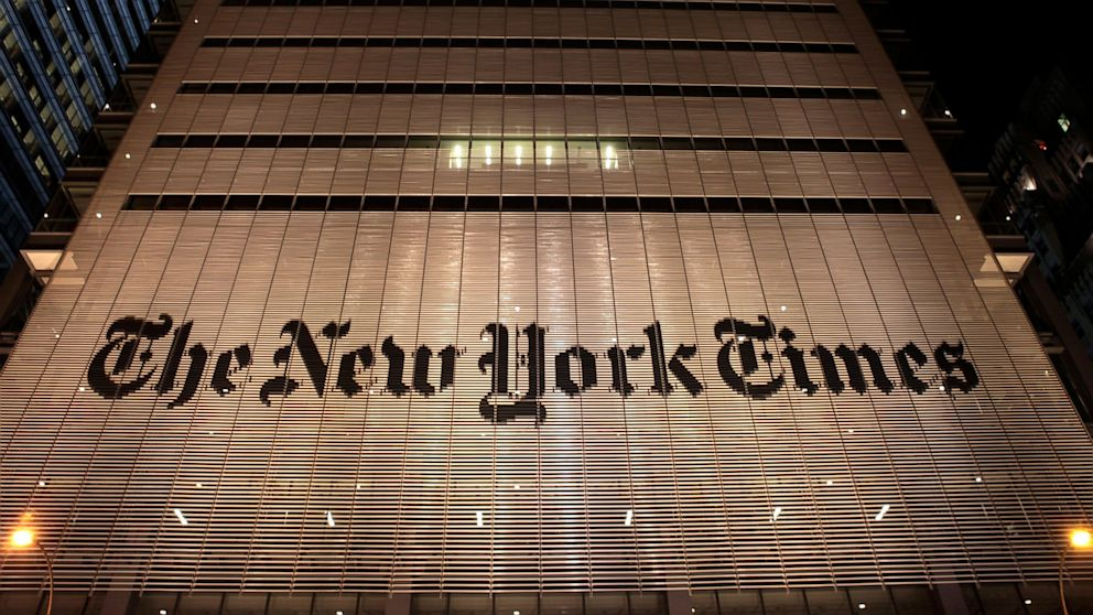 ... New York Times building is shown in this Jan. 2013 photo in New York