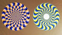 PHOTO: Most people will perceive this image, called a rotating snakes optical illusion, to be moving, even though it is not.