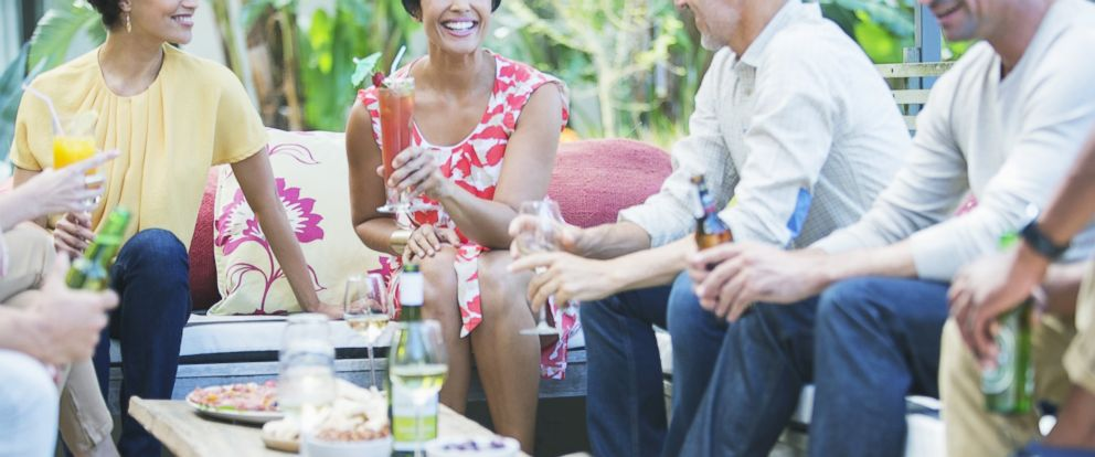 PHOTO: Friends relax together at party in this undated stock photo.