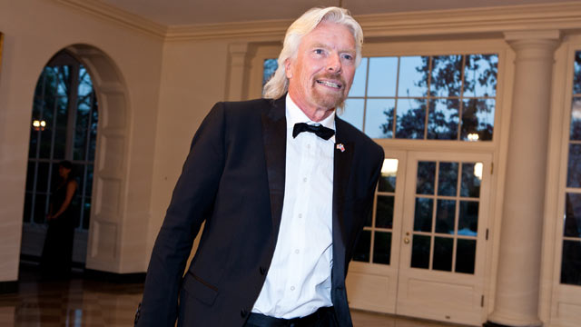 PHOTO: Sir Richard Branson arrives for a State Dinner in honor of British Prime Minister David Cameron at the White House.