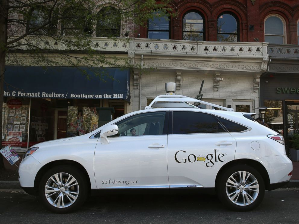 PHOTO: Googles Lexus RX 450H Self Driving Car is seen parked on Pennsylvania Ave. in Washington, April 23, 2014.
