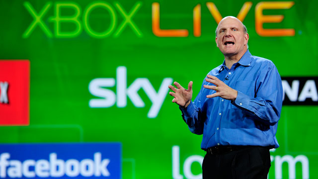 PHOTO: Microsoft CEO Steve Ballmer give his keynote speech at the 2011 International Consumer Electronics Show in this Jan. 5, 2011 file photo in Las Vegas, Nevada.
