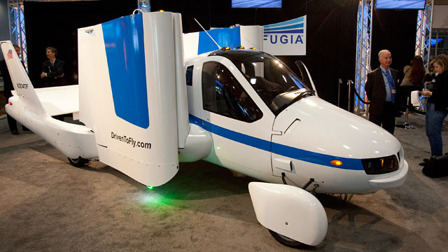 "PHOTO: The Terrafugia Transition ""flying car"" sits on"